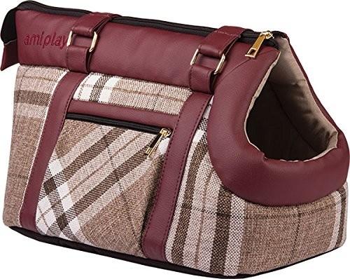 Amiplay Pet Carrier Bag Kent  Bordeaux 32x21x24 cm