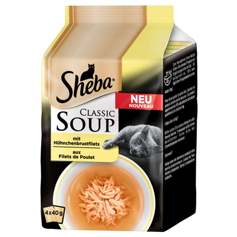 Sheba Classic Soup - Chicken Fillets 4x40 g buy online