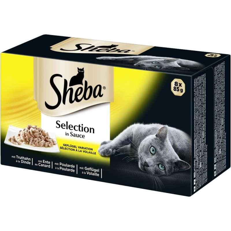 Sheba Selection in Sauce Fjerkræ Variation 32x85 g, 8x85 g