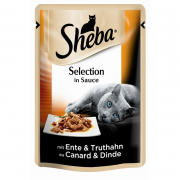 Sheba Selection in Sauce med And og Kalkun 85 g