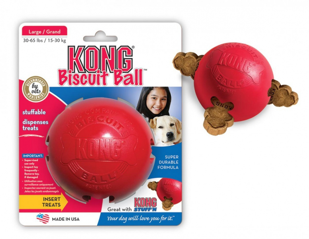 KONG Biscuit Ball red S  osta edullisesti