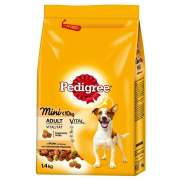Pedigree Adult Mini med fågel 1,4kg i djurbutik