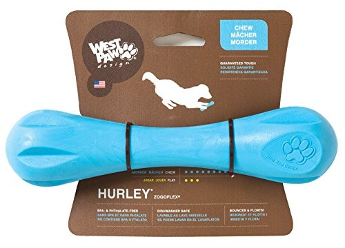 West Paw Hurley Dog Bone, Aqua L