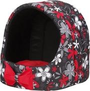 Ami Play Oval Dog House with Cushion Crazy, Red Rød: - Hundehuler