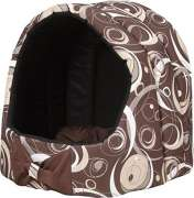 Oval Dog House with Cushion Crazy, Brown Brown