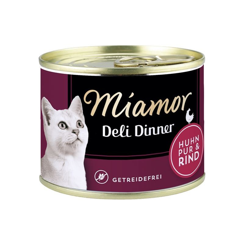 Miamor Deli Dinner Chicken pure with Beef 175 g buy online