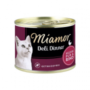 Miamor Deli Dinner Chicken pure with Beef 175 g