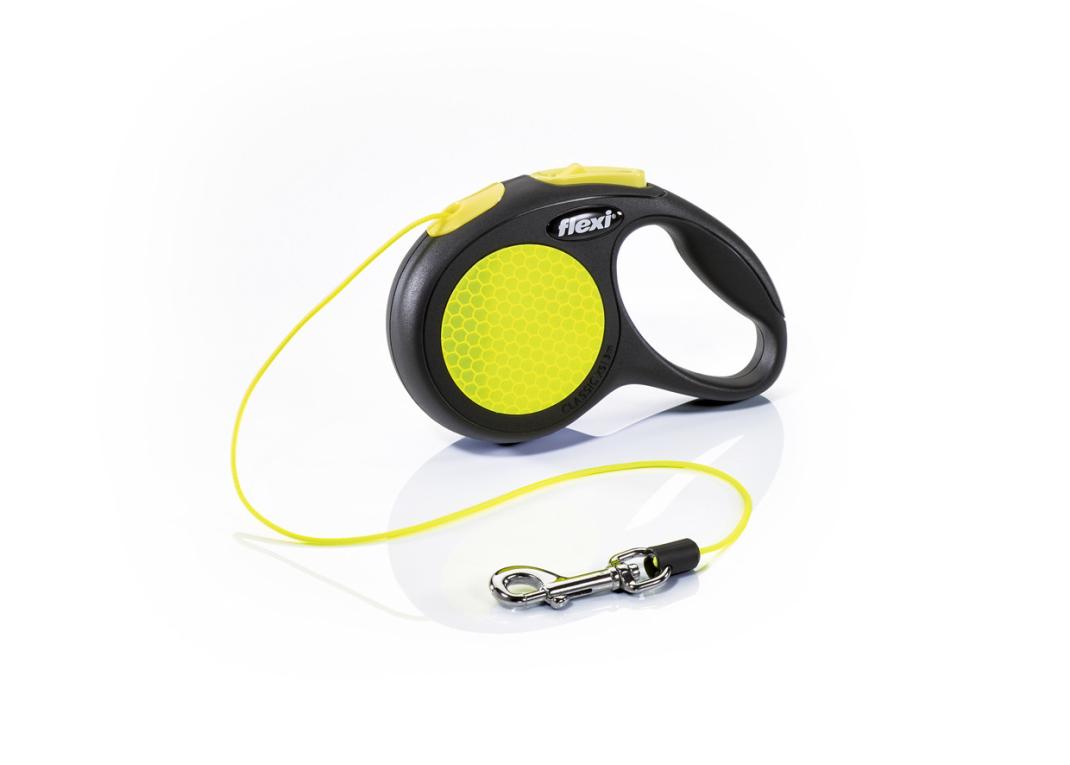 Flexi New Neon, Cuerda Enrollable, negro/neón 4000498025208 opiniones