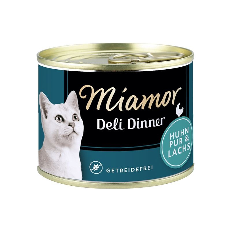 Miamor Deli Dinner Chicken pure with Salmon 175 g