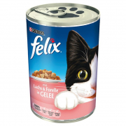 Felix Chunks with Salmon & Trout in Jelly 400 g