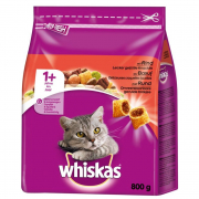 Whiskas 1+ Oxkött 800 g