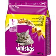 Whiskas Torrfoder 1+ Kyckling 800 g köp billigt till din hund på nätet