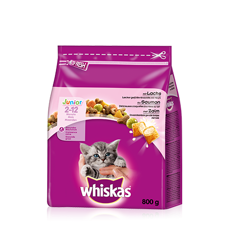 Whiskas Junior Lohi 800 g