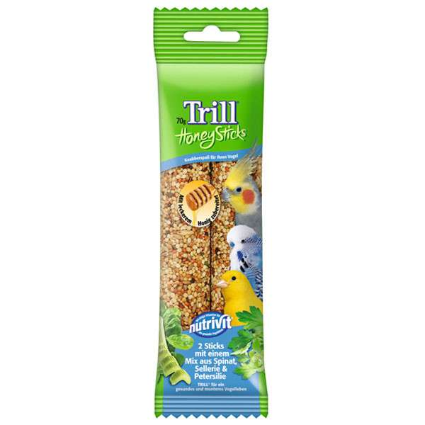 Trill Honey Sticks with Spinach, Celery and Parsley 2x35 g osta edullisesti