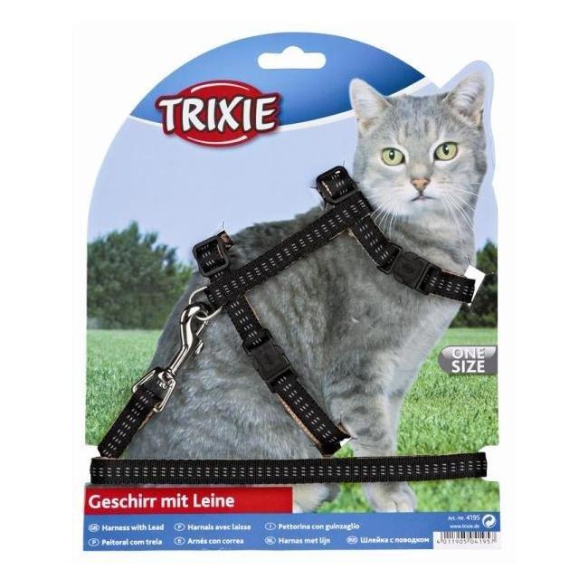 Trixie Softline Elegance - Arnés con correa para gatos 120 cm
