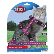 Trixie Cat Harness with Leash, pattern 120 cm