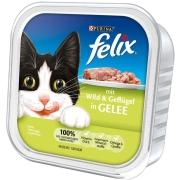 Felix Comida húmeda gatos  : Bocaditos con Venado y Aves de Corral en Gelatina 100g compra barato