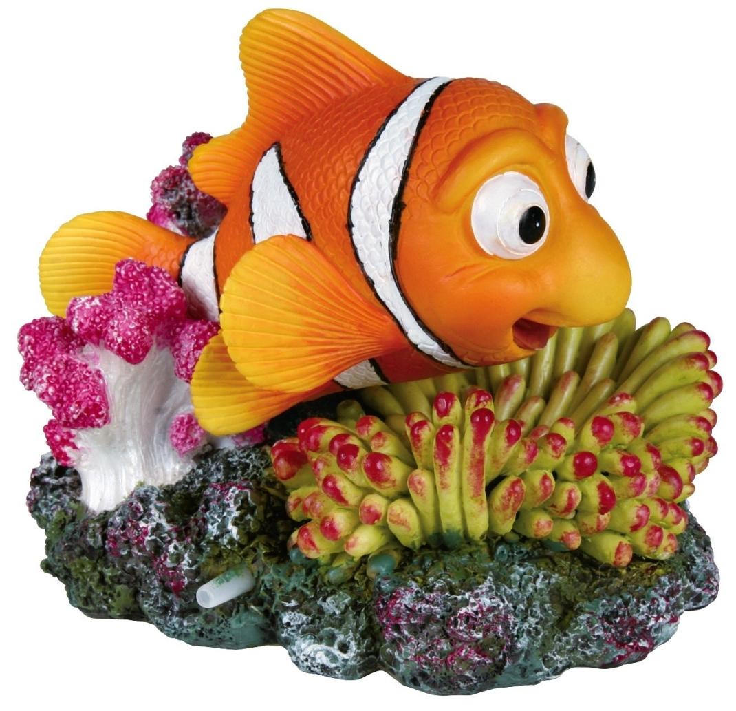 Trixie Anemoonvis en Koraal met Uitstromer 12 cm  met korting aantrekkelijk en goedkoop kopen