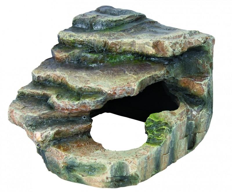 Eck - Fels mit Höhle und Plattform 16x12x15 cm  von Trixie