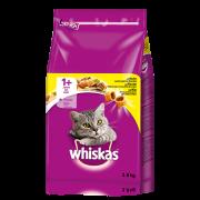 Whiskas Torrfoder 1+ Kyckling 3.8 kg