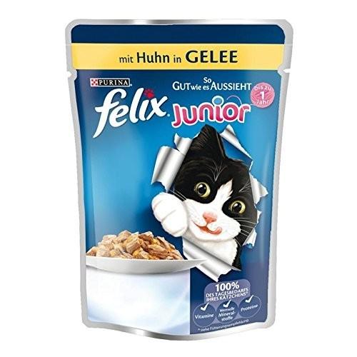 """Felix """"Tan bueno como parece"""" Junior con Pollo en Gelatina 100 g 7613031591251 opiniones"""