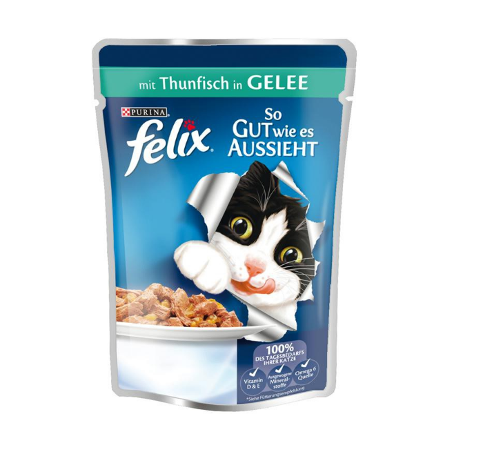 Felix As good as it looks with Tuna in Jelly 100 g test