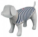 Milton Pullover, grey/blue, striped 60x58 cm