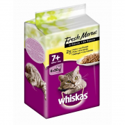 Whiskas 7+ Fresh Menue with Chicken, Turkey and Poultry 6x50 g