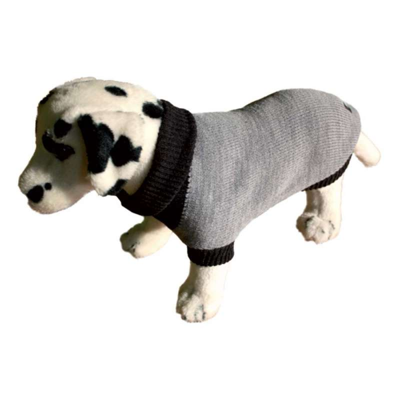 Amiplay Dog Sweater - Gray Pink Stripes