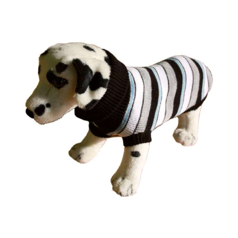 Amiplay Dog Sweater, Gray with Colored Stripes  21 cm Gray/Colored Stripes