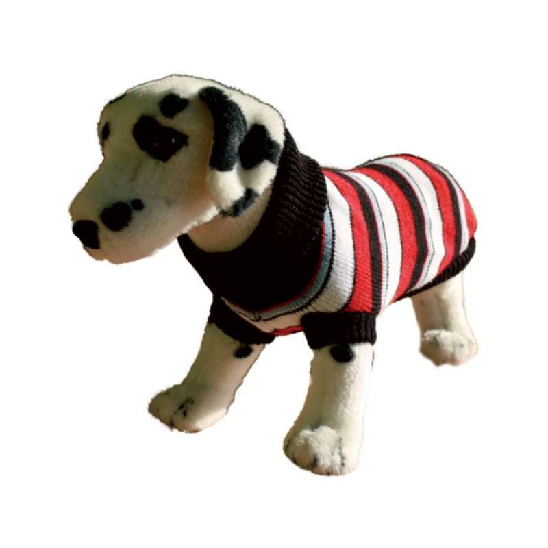 Amiplay Dog Sweater - Colored Stripes with Red  21 cm Red/ Colored Stripes