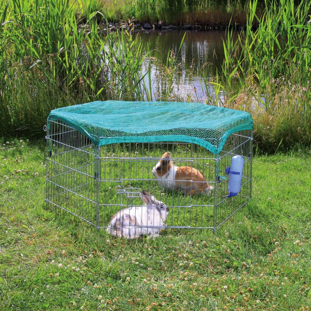 Outdoor Run with Protective Net, 6 elements 120×58 cm  fra Trixie kjøp billig med rabatt