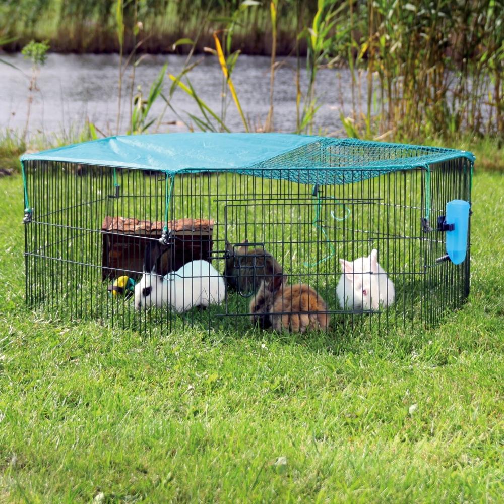 Trixie Jungtiergehege mit Schutznetz ø116×38 cm