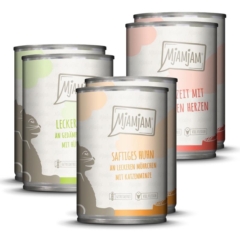 MjAMjAM Mixpaket I Huhn, Rind, Herzen 6x400 g