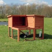 Trixie Kleintierstall mit Freilaufgehege 2 Etagen  110×96×103 cm