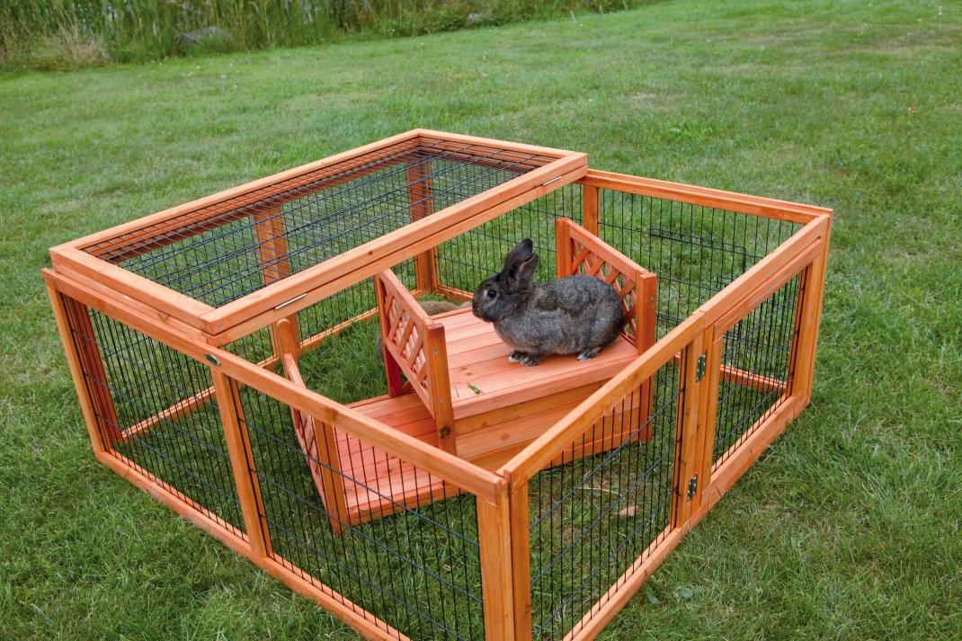 Trixie Terrasse für Freilaufgehege, 2 Etagen, Braun 70×40×40 cm