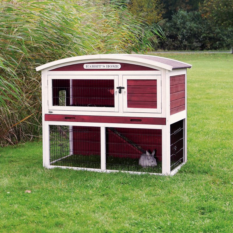 Trixie Kleintierstall mit Freilaufgehege, zweistöckig, Rot/Weiß  4011905623405 Erfahrungsberichte