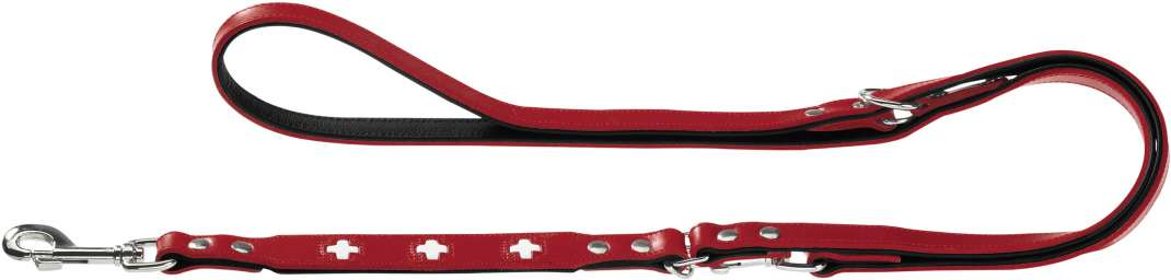 Hunter Leash Swiss Eco Leather Red 1.3x200 cm 4016739431547 erfaringer
