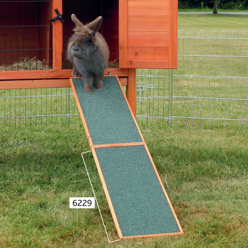 Trixie Natura Wooden Ramp for Rabbits Hutches  Mørk grønn 20x50 cm