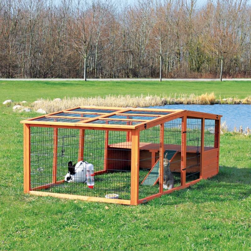 Natura Outdoor Run XL with Cover  233×79×116 cm  fra Trixie kjøp billig med rabatt