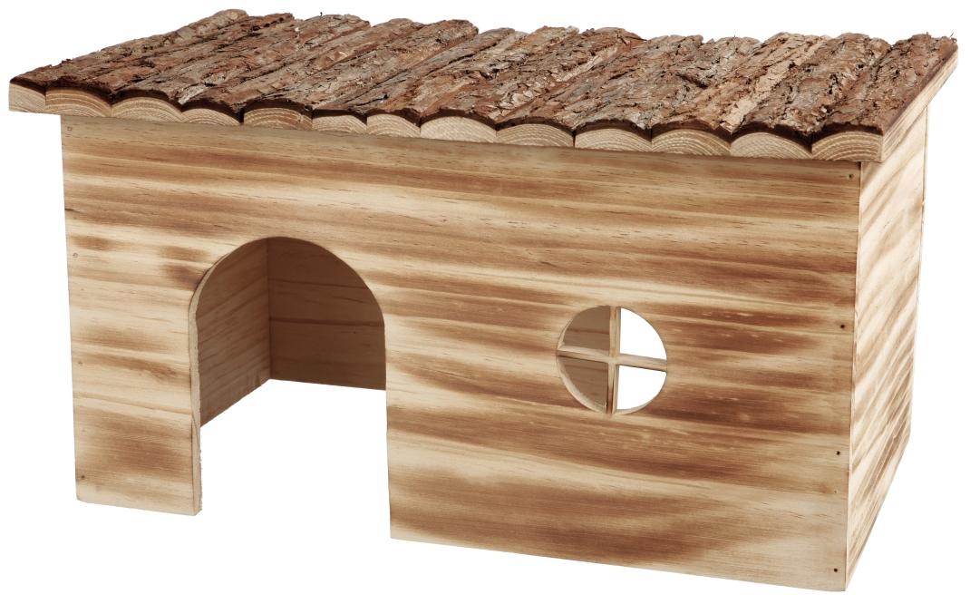 Trixie Natural Living Huisje Grete, gevlamd  45×24×28 cm Bruin