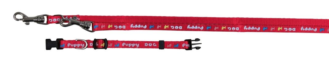 Trixie Collar con Ramal para Cachorros  Rojo 16-23/200 cm