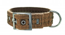 Hunter Collar Texas, Brown 35-45x4 cm buy online - Dog collars of nylon and other materials