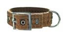 Hunter Collar Texas, Brown 35-45x4 cm: - Hundehalsbånd i nylon og andre materialer