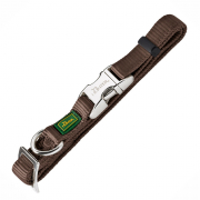 Dog Collars of Nylon and Other Materials Hunter Collar Cotton Alu-Strong, Brown S