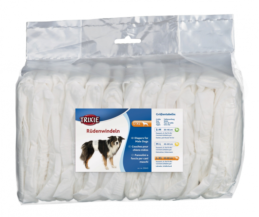Trixie Diapers for Male Dogs 4011905236438 erfarenheter