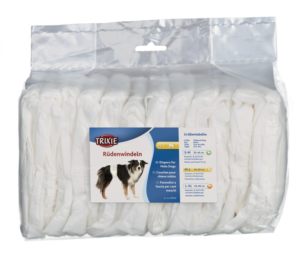 Trixie Diapers for Male Dogs  46-60 cm