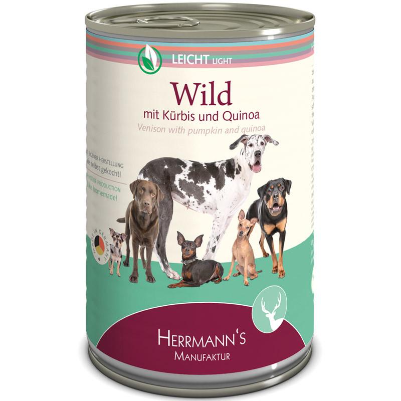 Herrmann's  Wild met Pompoen & Veenbessen en Quinoa 150 g, 800 g, 400 g