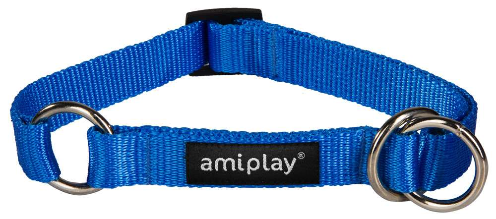 Amiplay Half-check collar Basic  Sininen M
