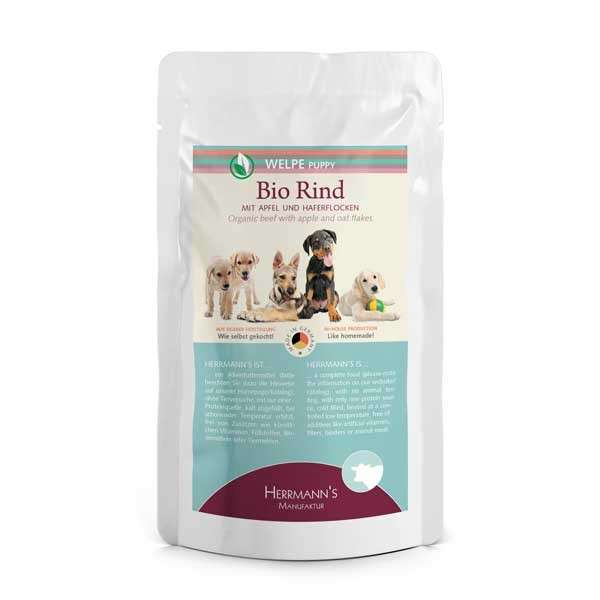 Wet & Canned food Bio-Beef with Apples and Porridge and Carrot 150g, 15x150g, 400g by Herrmann's  Buy fair and favorable with a discount
